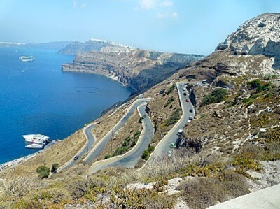 santorin route