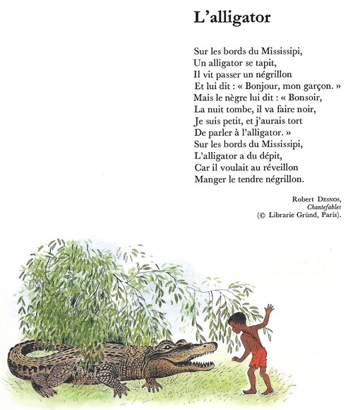 L'ALLIGATOR (Robert Desnos)