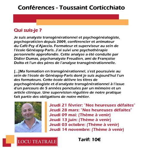 """28 Mars 2019 à 20h30 - Conférence """"Nos heureuses défaites"""""""