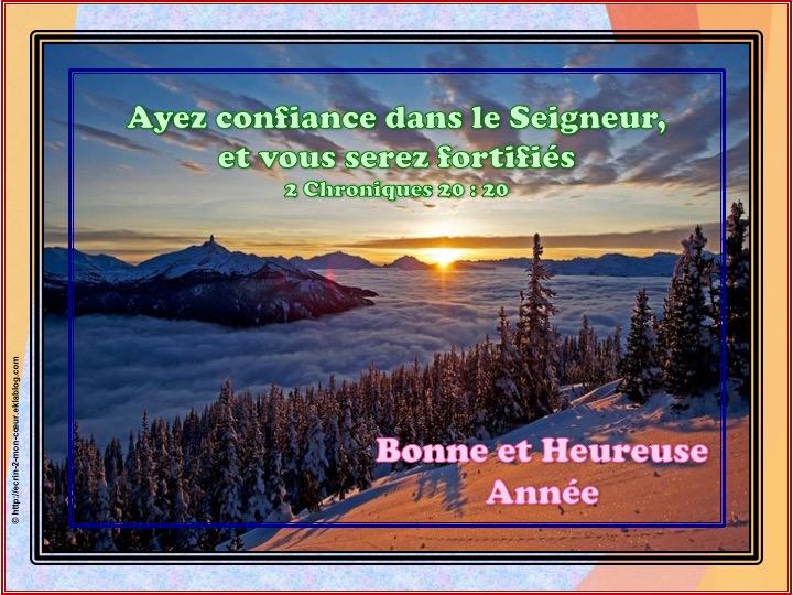 Bonne et Heureuse Année - 2 Chroniques 20 : 20