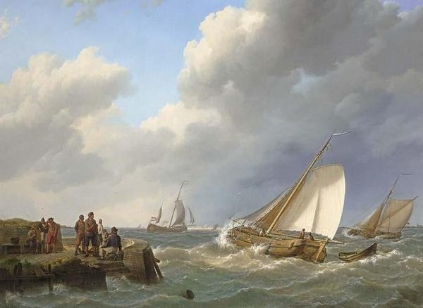 Peinture de : Johannes Hermanus Koekkoek