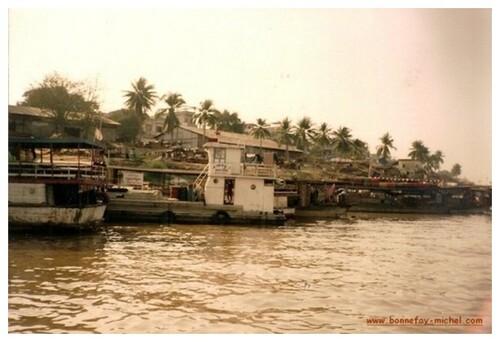 Cambodge 2 -10 - Balade sur le Mékong 1993.