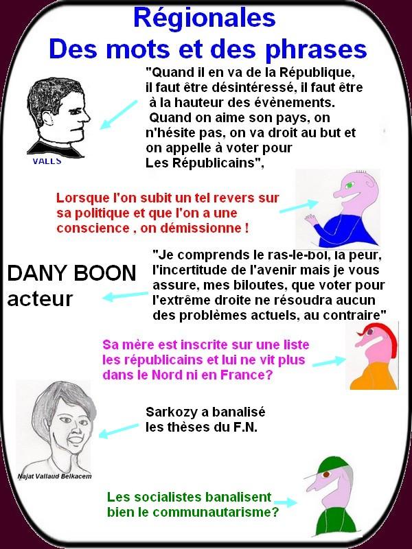 Valls, NVB et Boon ou les petites phrases du jour aux régionales!