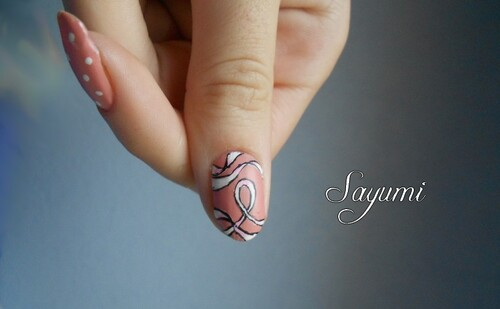 Nail Art Octobre Rose
