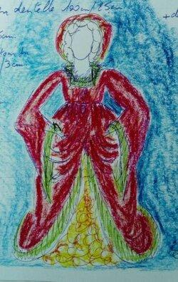 Garde-Robe   de    Poupées avec les chutes de tissus pour Les Centres de Loisirs