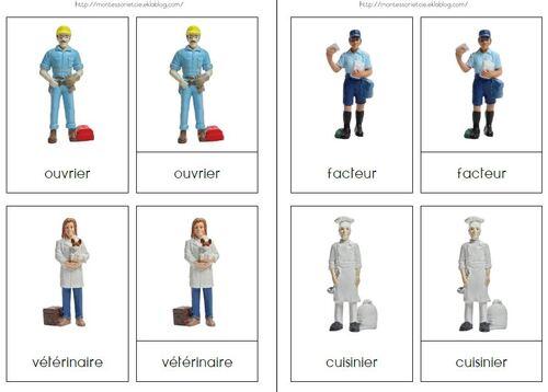 Les métiers (Safari Ltd) : nomenclatures simples/images classifiées