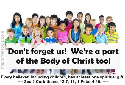 les enfants ont aussi des dons spirituels