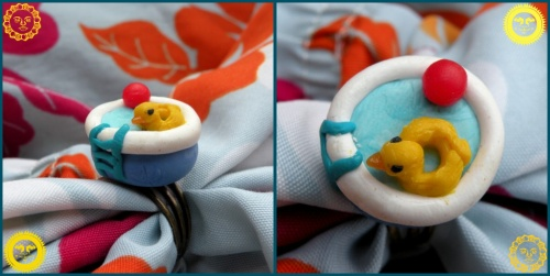 Bague Swimming Poule