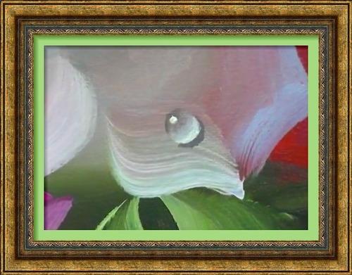 Dessin et peinture - vidéo 2537 : Comment peindre une goutte d'eau ou de rosée sur une surface ou une fleur ? huile ou acrylique;