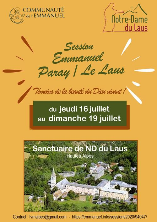 """Session """"EMMANUEL""""  PARAY/LE LAUS"""
