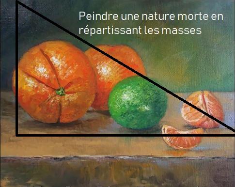 Dessin et peinture - vidéo 2843 : Comment réaliser une nature morte 3 ? - la répartition des masses, les couleurs, l'éclairage, la perspective.