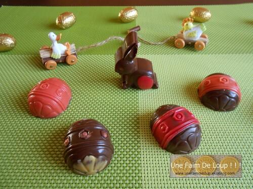 Chocolats de Pâques coeur caramel beurre salé