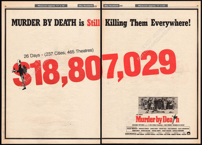 MURDER BY DEATH BOX OFFICE 1976