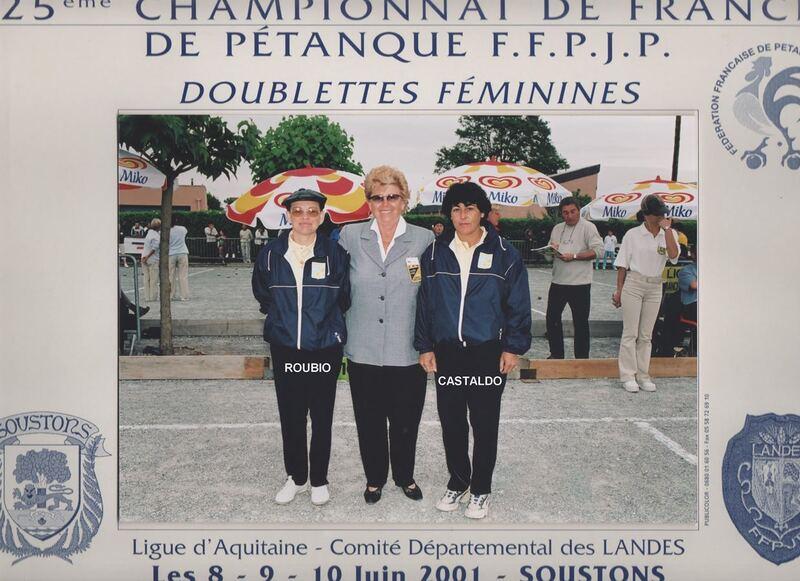 Les féminines du 06 qualifiées en doublettes de 1977 à 2019