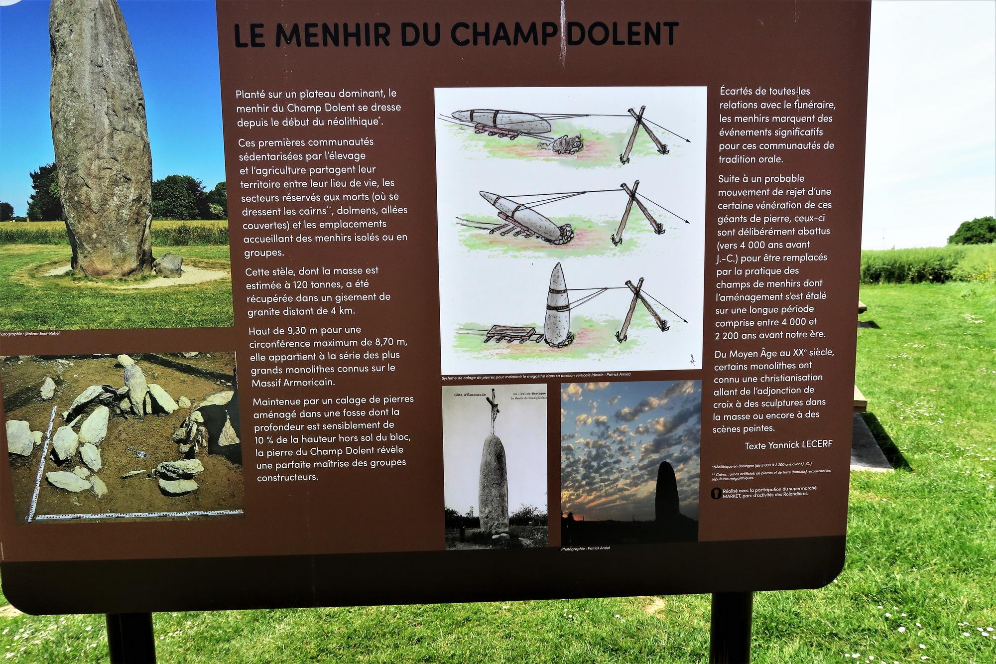 Le MENHIR de CHAMP DOLENT