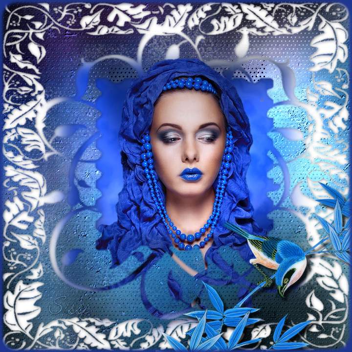 * Cadre bleu *Atelier de Cerise *