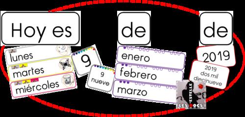 La date en espagnol : affichage et flashcards