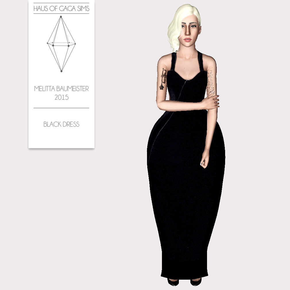 MELITTA BAUMEISTER 2015 BLACK DRESS