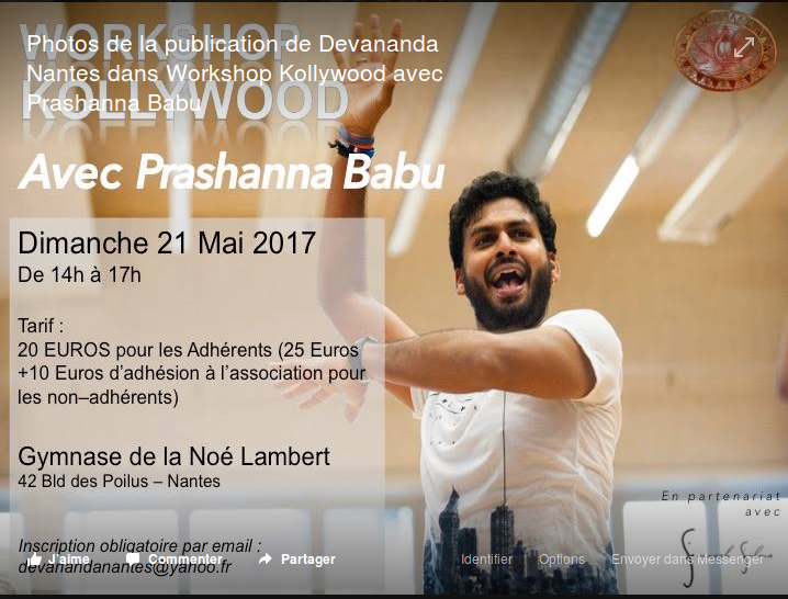 QUAND LE CORPS RIT...STAGE KOLLYWOOD...NNANTES 21 MAI 2017 2017