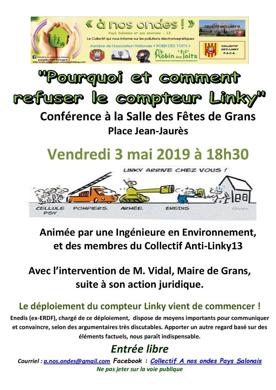 Prochaine conférence le 3 mai à Grans