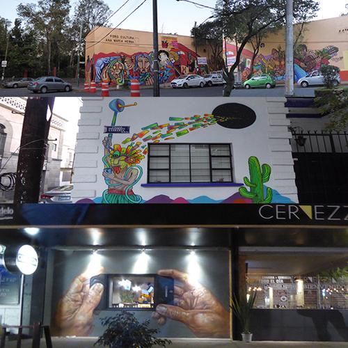 MEXICO DF : DE MUR EN MUR MURS MURS - 3