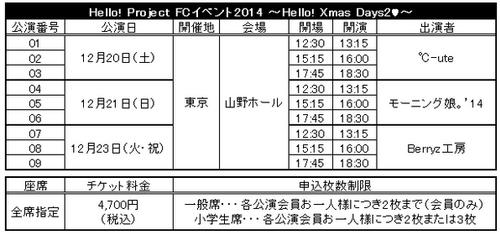 """Annonce des Dates du """"Hello Xmas Day 2 ♥"""""""