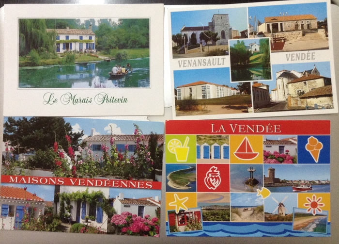 Les cartes postales de nos correspondants vendéens sont arrivées.