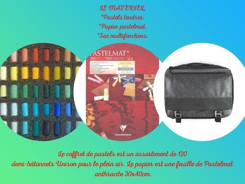 Dessin et peinture - vidéo 3486 : Le petit chemin impressionniste - pastels.