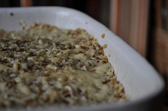 Gratin de quinoa aux poireaux