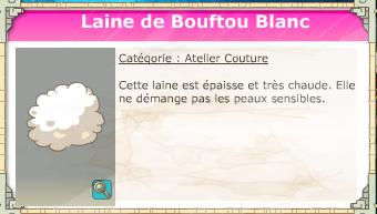 laine de bouftou blanc