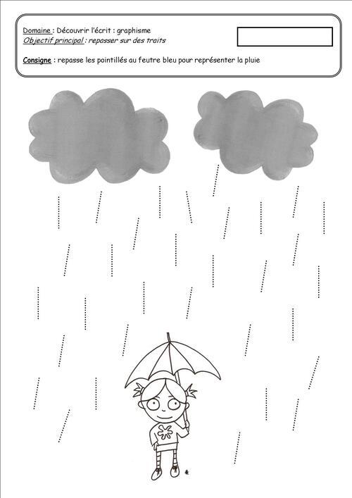 Le trait : la pluie