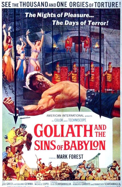 GOLIATH AND THE SINS OF BABYLONE BOX OFFICE USA 1963