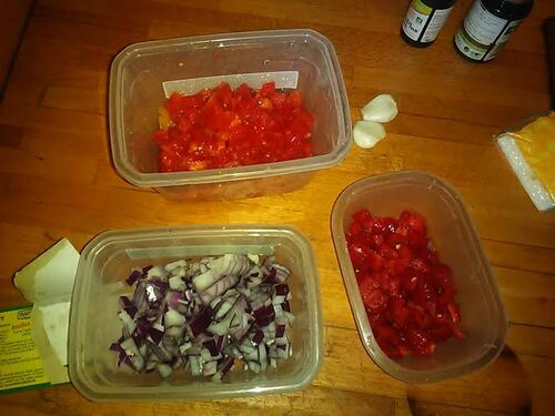 Risotto (au riz complet)tomate/poivron pour un peu de soleil dans l'assiette {Vegan}