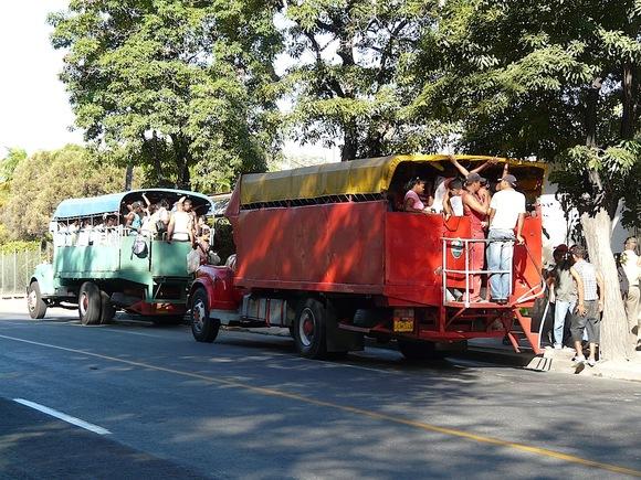 les camiones ou autobus locaux