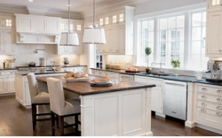 White wooden kitchens