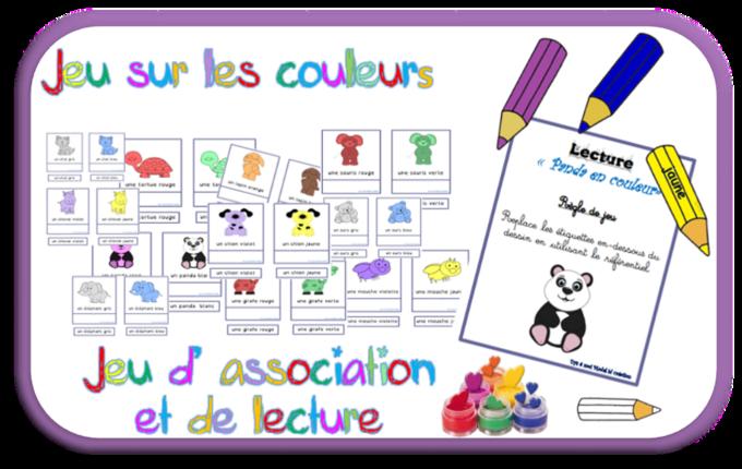 Les animaux en couleur: savoir lire
