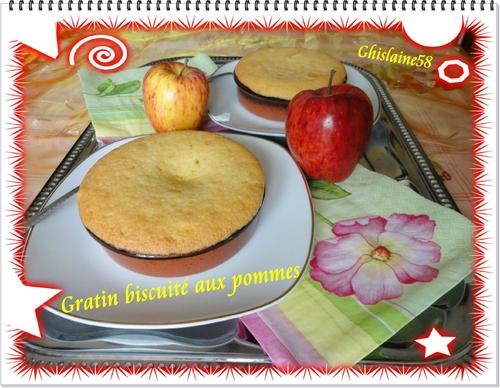Gratin biscuité aux pommes