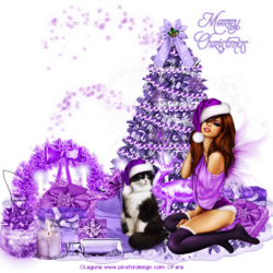 Création petit mot Christmas purple ensemble code inclus