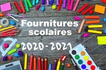 Listes des fournitures 2020
