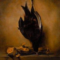 Nature morte au faisan et gibecière, d'après Chardin