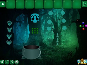 Jouer à Halloween awful forest escape