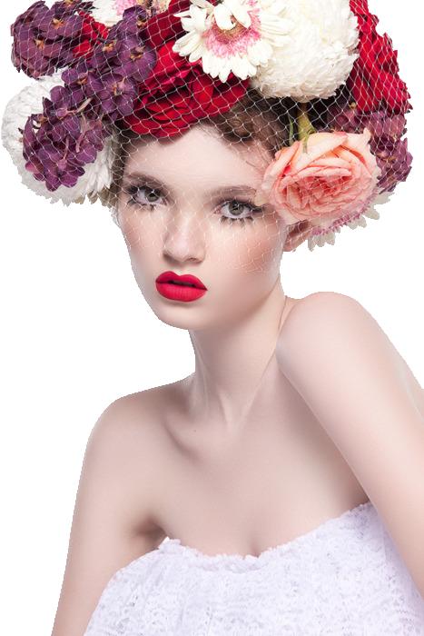 tube femme fleurs