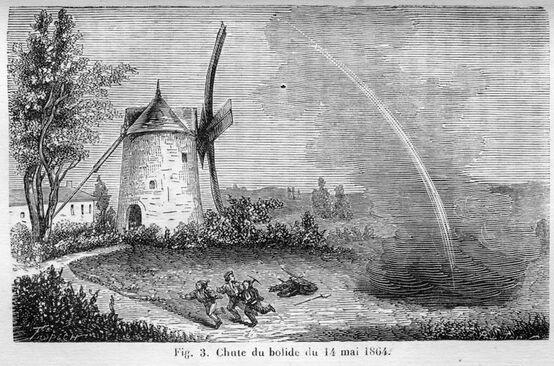 Chute du bolide du 14 mai 1864