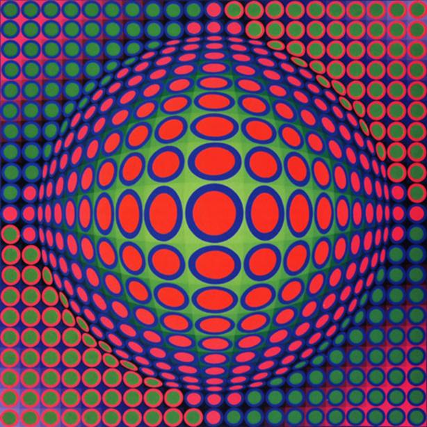 Op'Art ou Art Optique (Fin des années 60 en Europe et aux Etats-Unis)