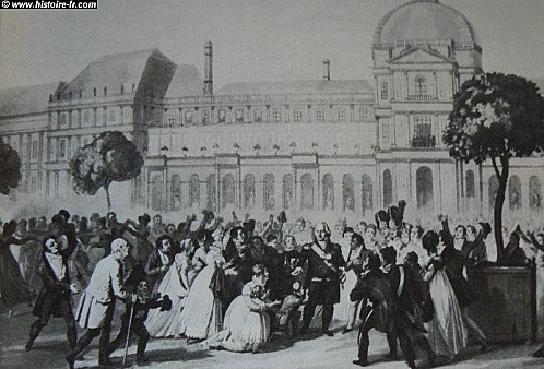 retour louis XVIII tuileries