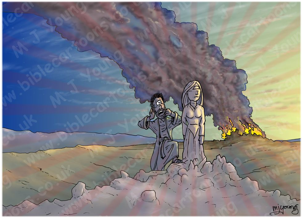 Genesis 19 - Sodom and Gomorrah - Scene 09 - Pillar of Salt (Radiating version)