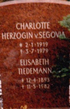 Charlotte Tiedemann, Duchesse de Ségovie (IV)