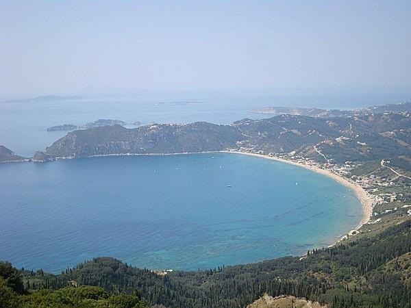 800px-St George's beach in Corfu, Greece