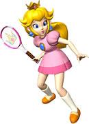 peach qui joue du tennis
