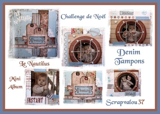 Sneak peek Challenge de Noël Denim Tampns
